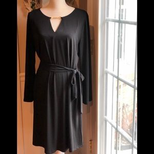 New Michael Kors Black Dress W/Belt